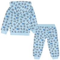 Picture of Moschino M5K00G baby sweatsuit light blue