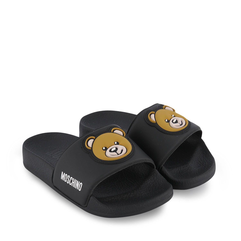Picture of Moschino 67529 kids flipflops black