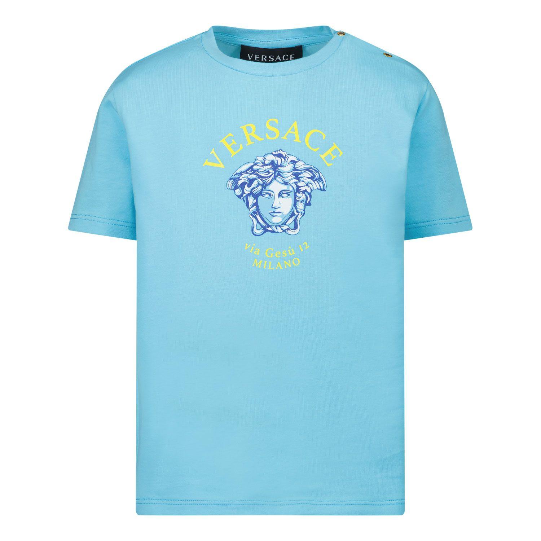 Afbeelding van Versace 1000102 1A00266 baby t-shirt licht blauw