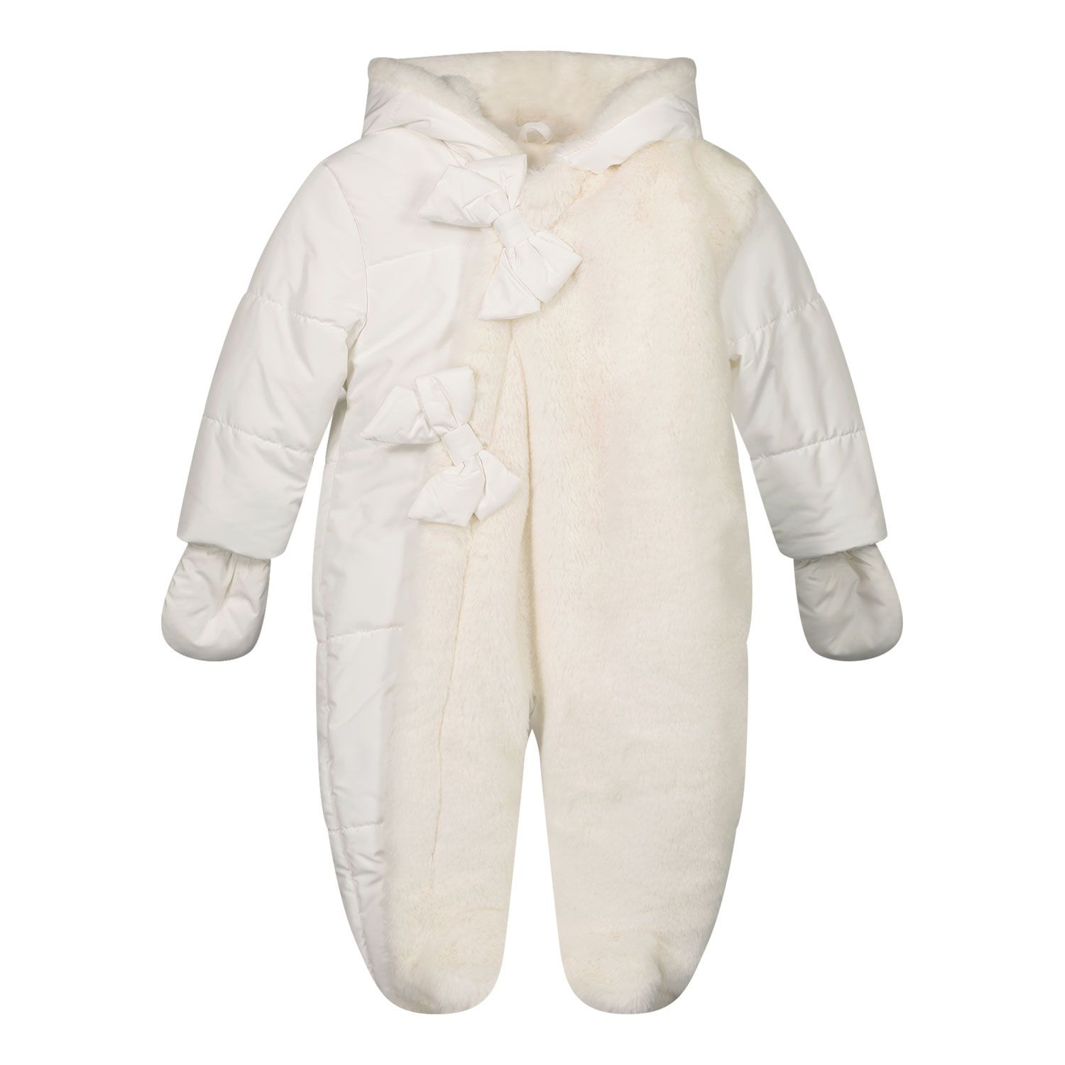Picture of Lapin 212E5223 baby snowsuit off white