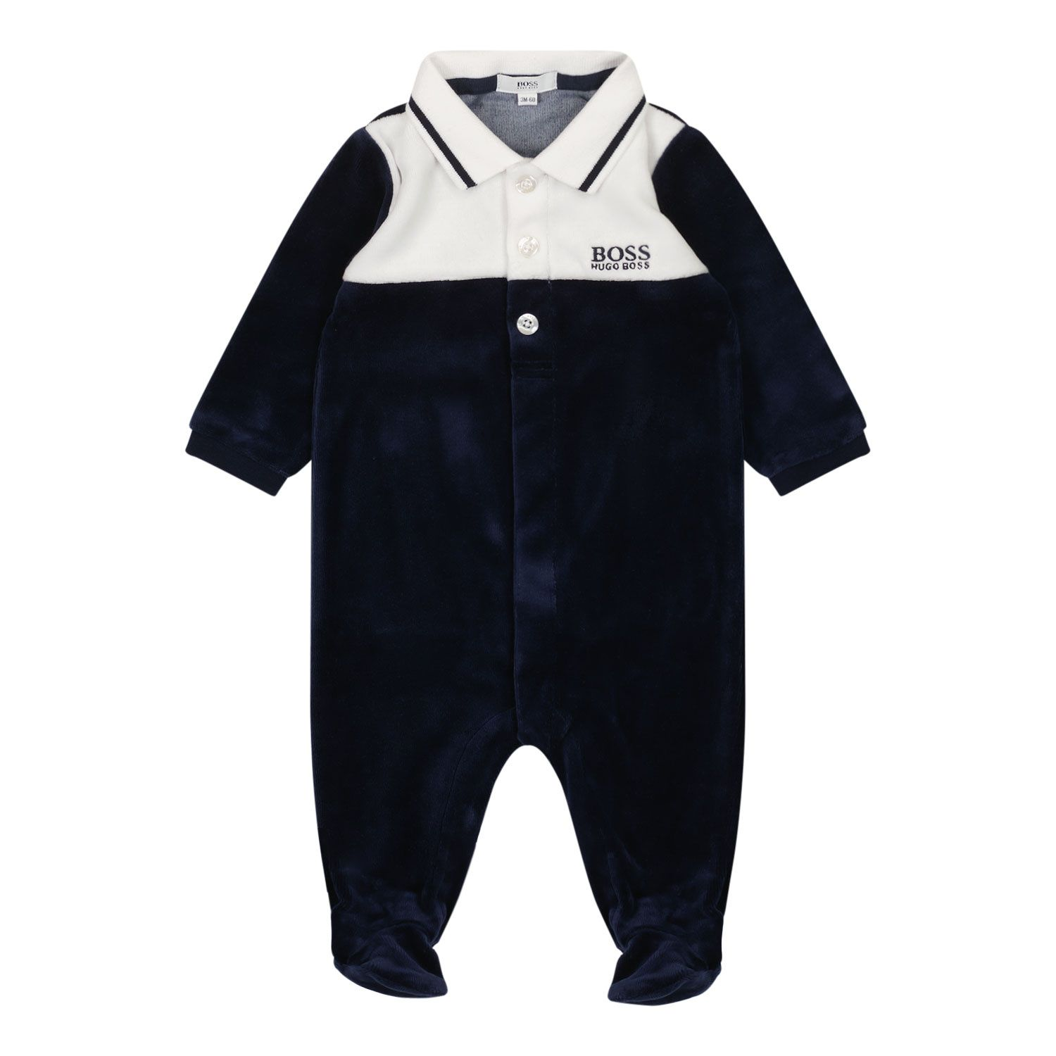 Picture of Boss J97179 baby playsuit navy