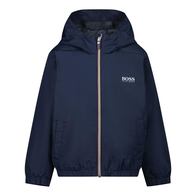 Picture of Boss J06223 baby coat navy