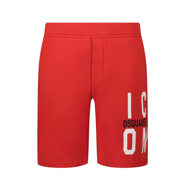 Afbeelding van Dsquared2 DQ0250 kinder shorts rood