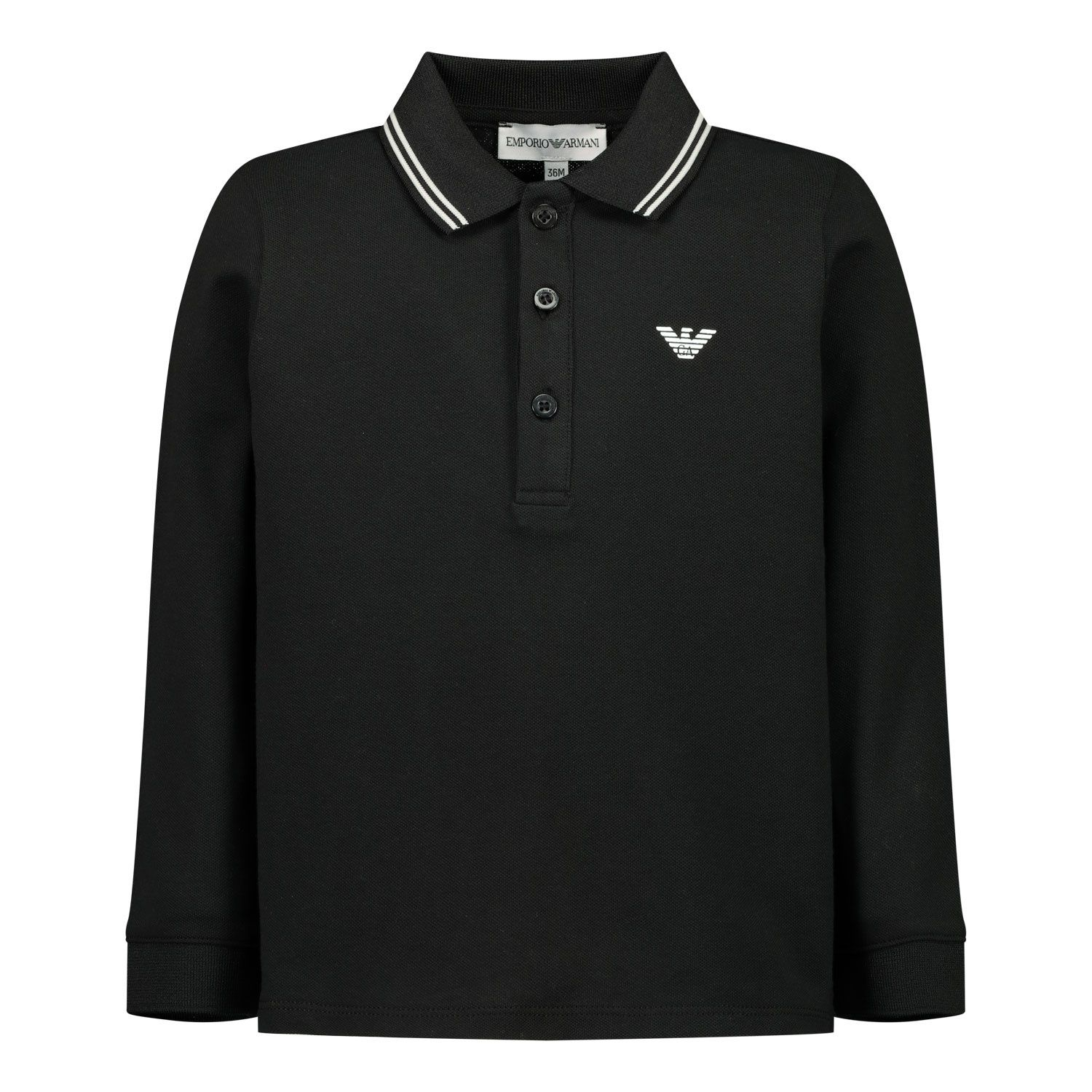 Picture of Armani 8NHF07 baby poloshirt black