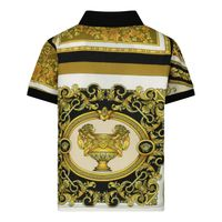 Picture of Versace 1000196 1A00304 baby poloshirt white