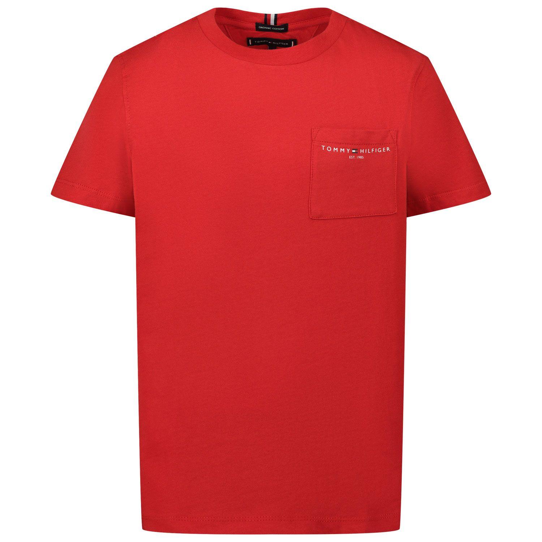 Bild von Tommy Hilfiger KB0KB06556 Kindershirt Rot