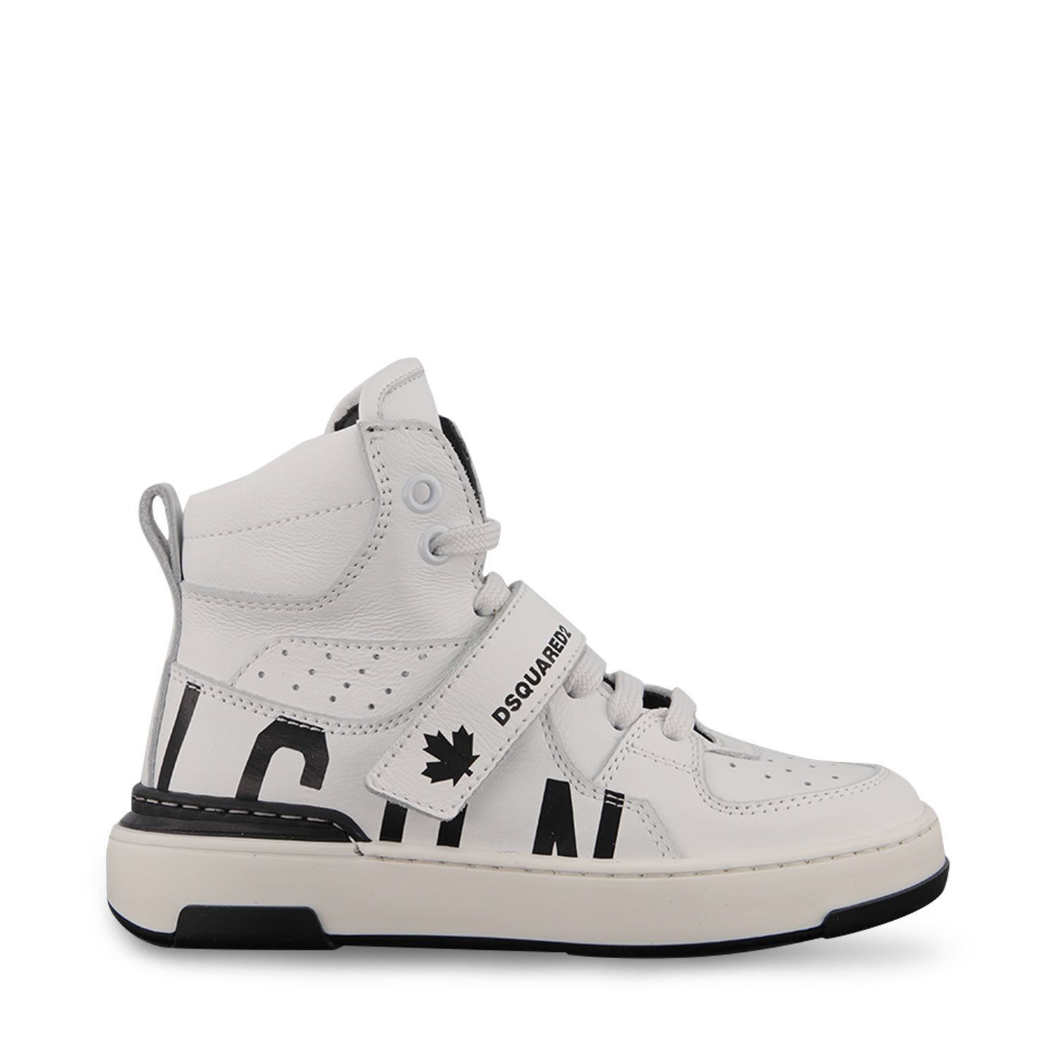 Picture of Dsquared2 68667 kids sneakers white