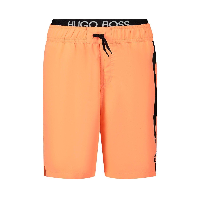 Picture of Boss J24651 kids swimwear fluoro orange