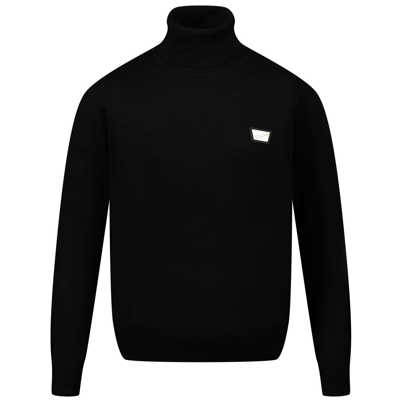 Picture of Antony Morato MKSW01154 kids sweater black