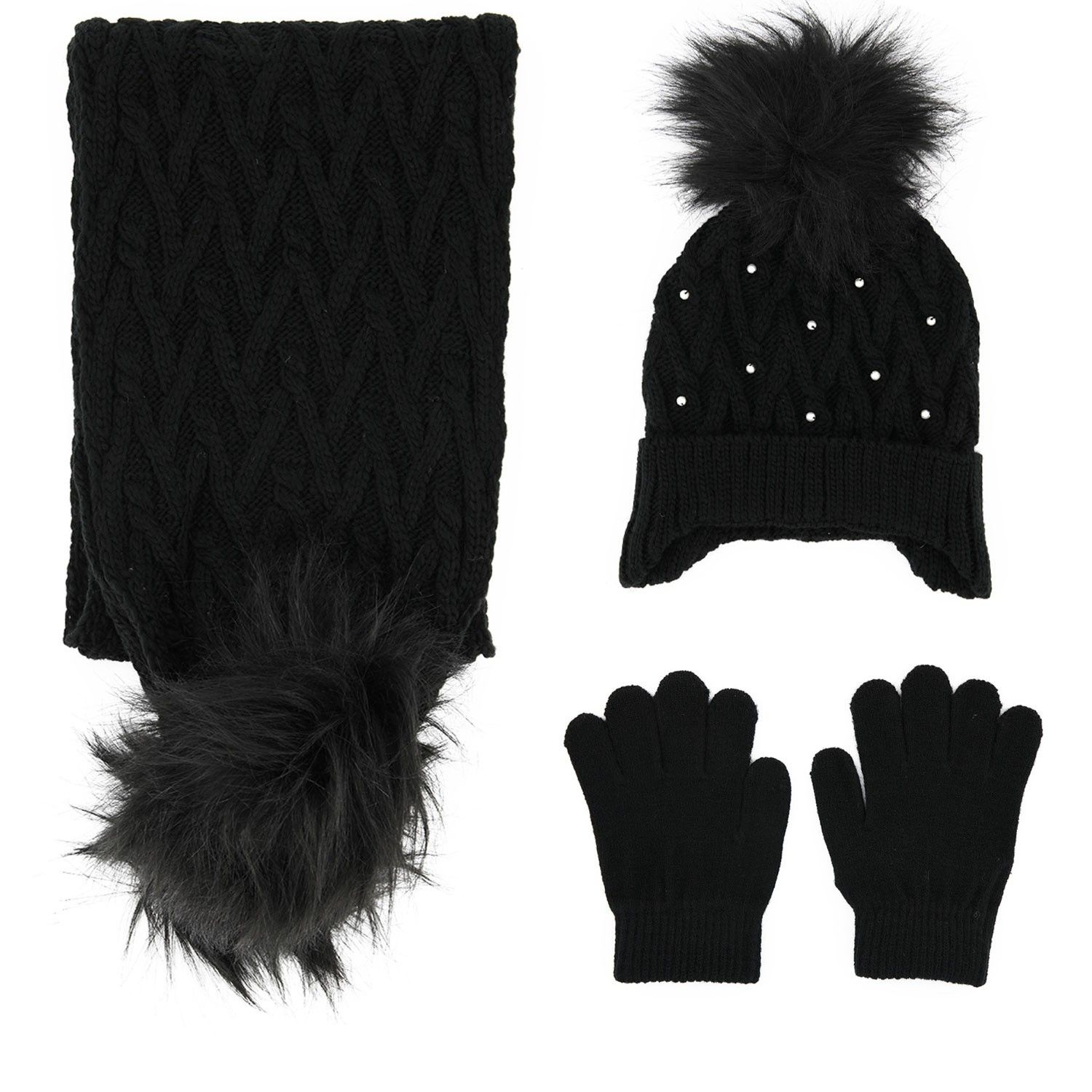 Picture of Mayoral 10701 kids hat black