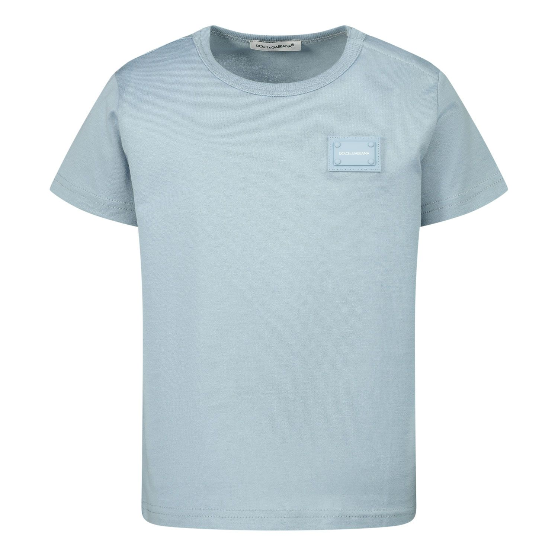 Afbeelding van Dolce & Gabbana L1JT7T G7OLK baby t-shirt licht blauw