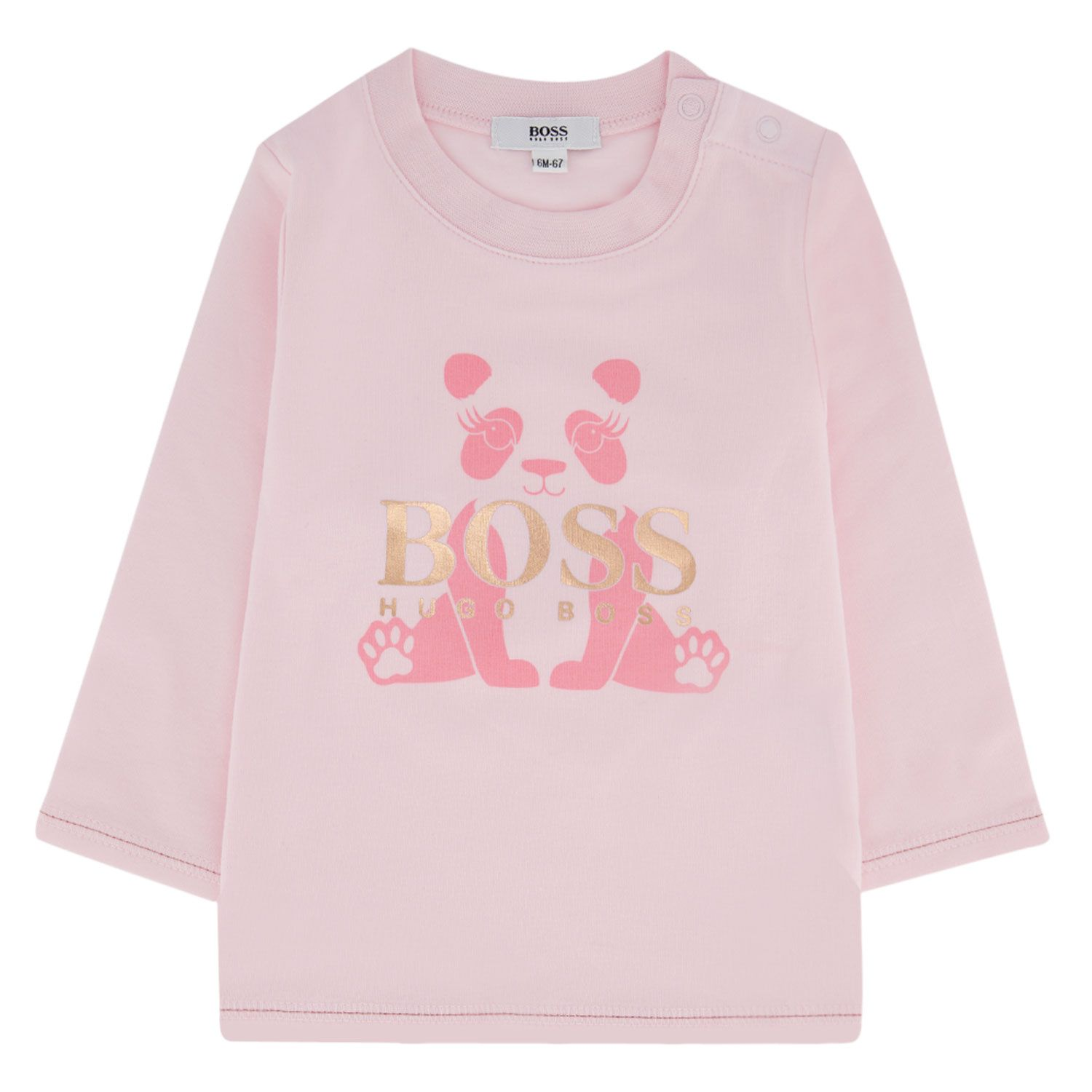Picture of Boss J95297 baby shirt light pink