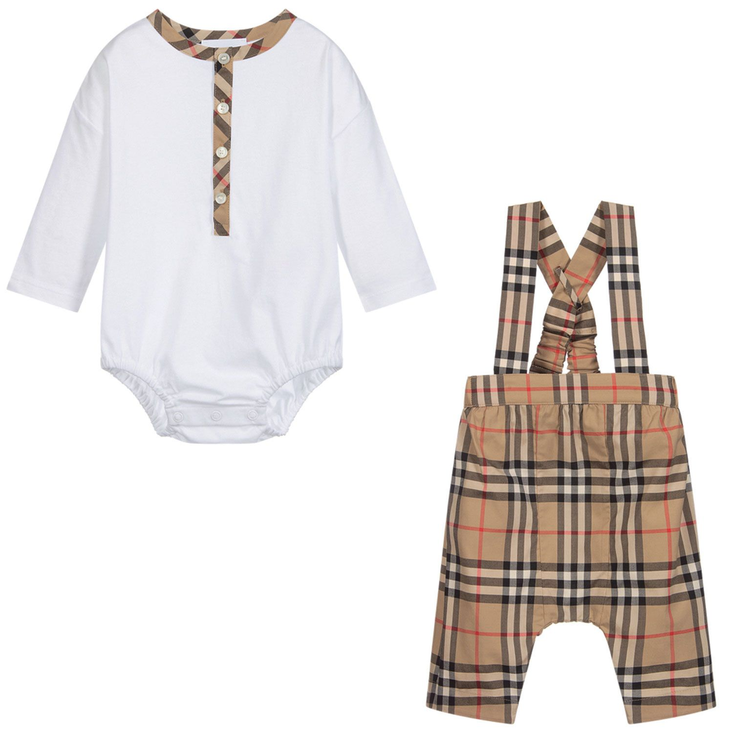 Picture of Burberry 8033129 baby playsuit white