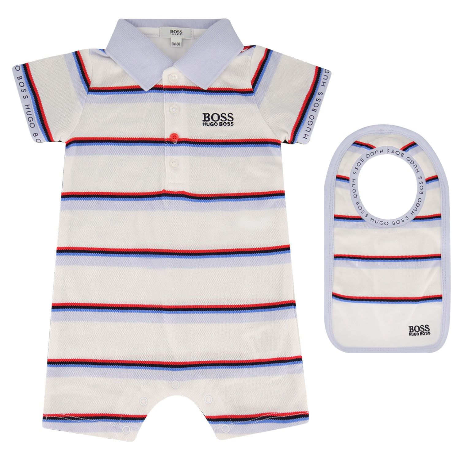 Picture of Boss J98281 baby playsuit white