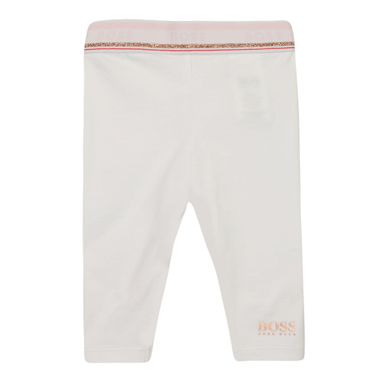 Afbeelding van Boss J94280 baby legging wit
