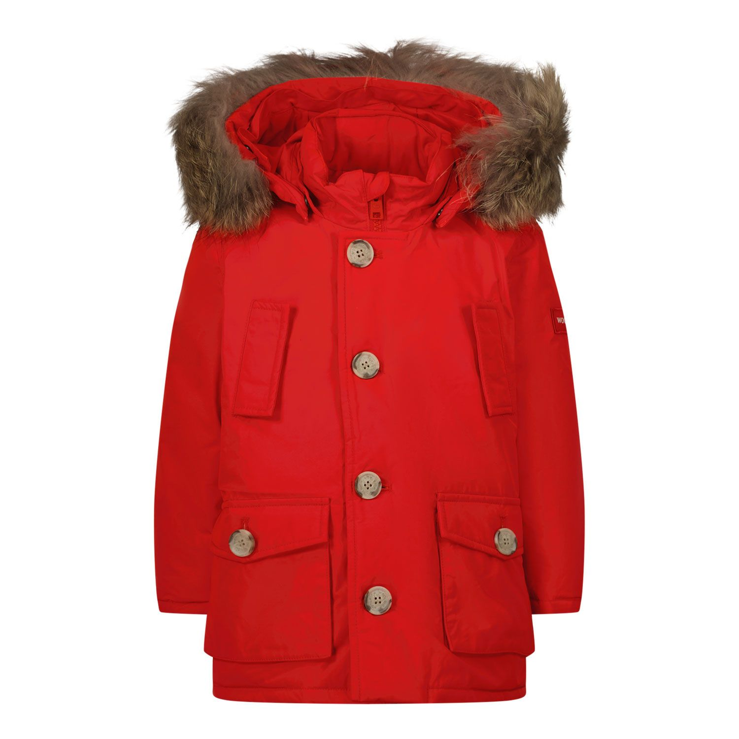 Picture of Woolrich CFWKOU0206 baby coat red