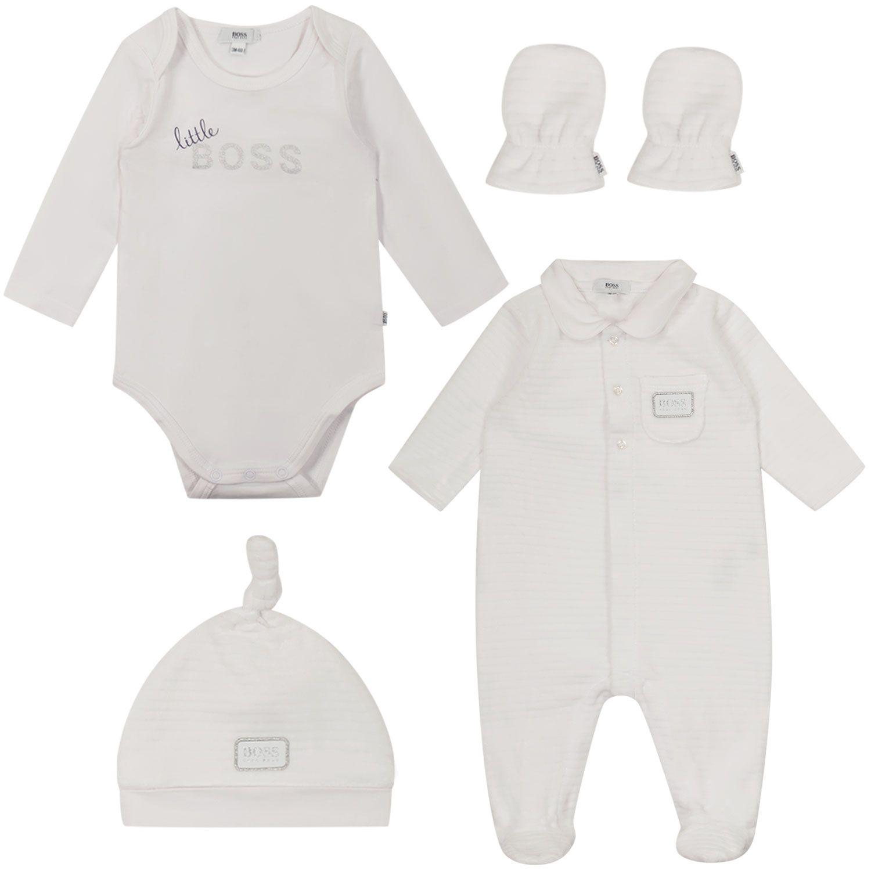 Bild von Boss J98328 Babystrampelanzug Weiß