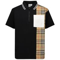 Picture of Burberry 8042316 kids polo shirt black