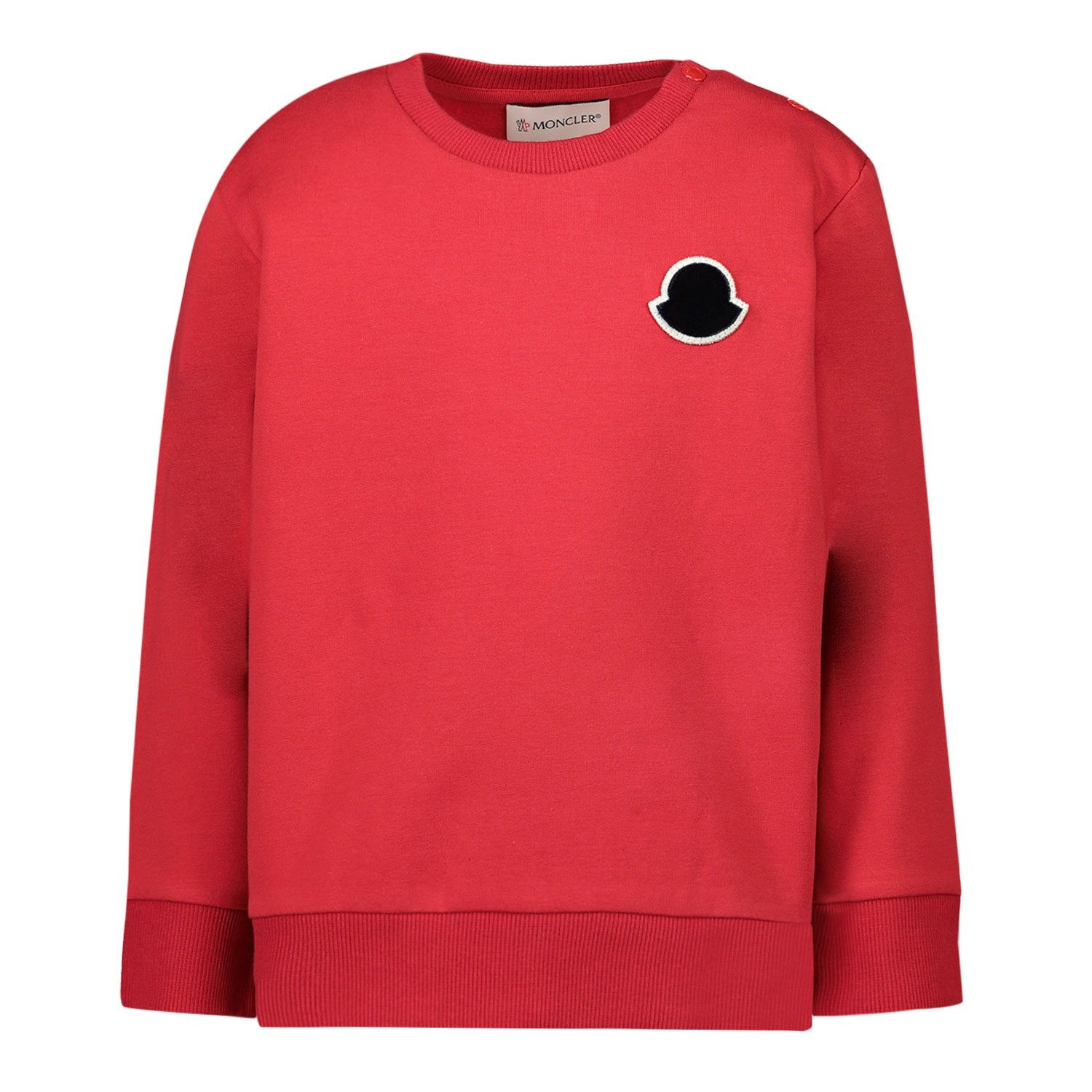 Picture of Moncler 8G70620 baby sweater red