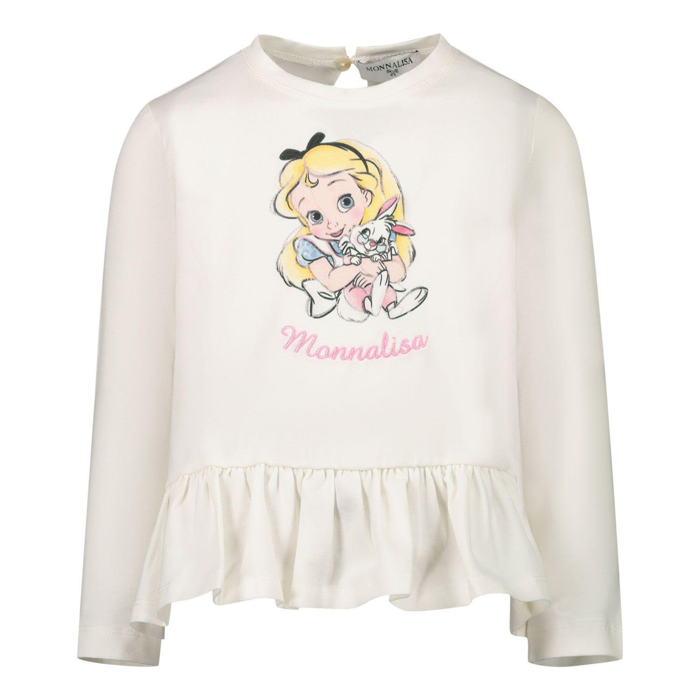 Afbeelding van MonnaLisa 396625PI baby tuniekje off white