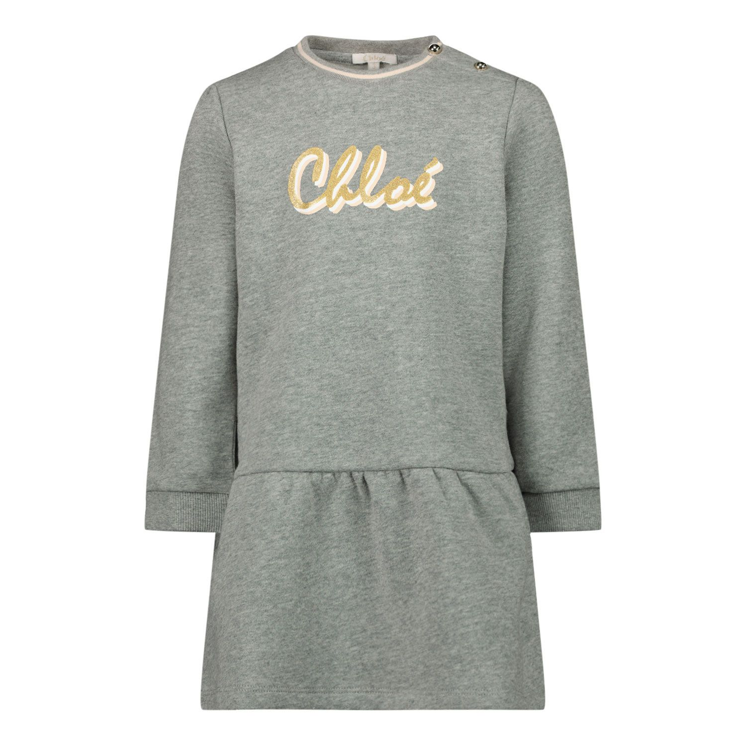 Picture of Chloé C02272 baby dress light gray