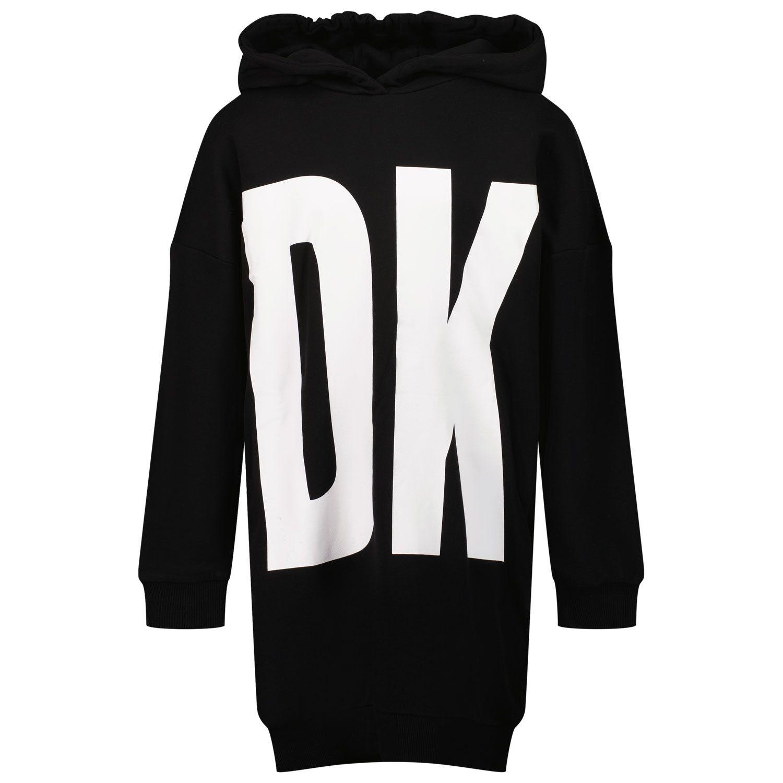 Picture of DKNY D32801 kids dress black