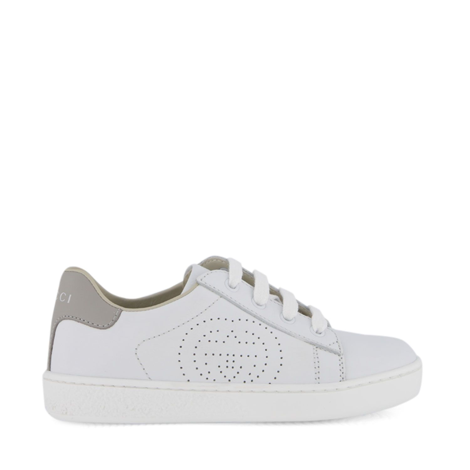 Picture of Gucci 626619 kids sneakers white