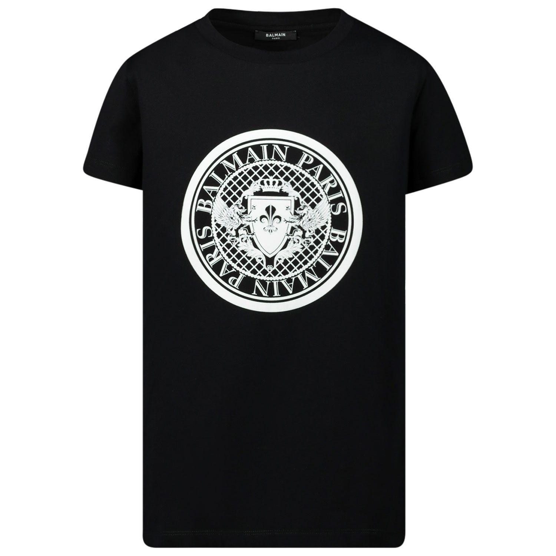 Afbeelding van Balmain 6M8091 kinder t-shirt zwart