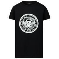 Picture of Balmain 6M8091 kids t-shirt black