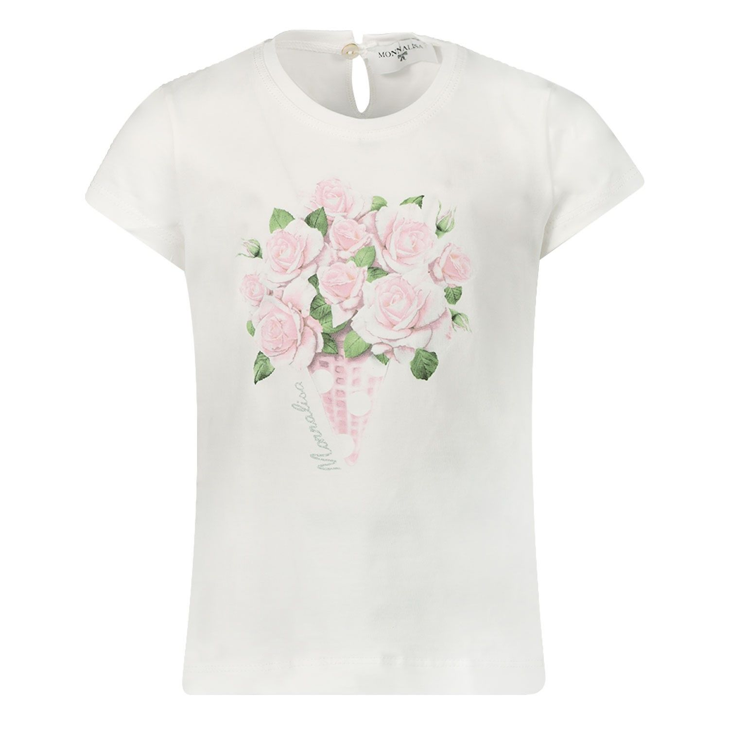 Picture of MonnaLisa 315627PA baby shirt off white