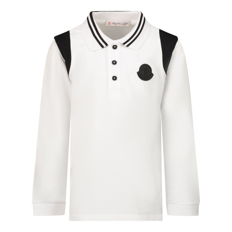 Afbeelding van Moncler 8B71120 baby polo off white