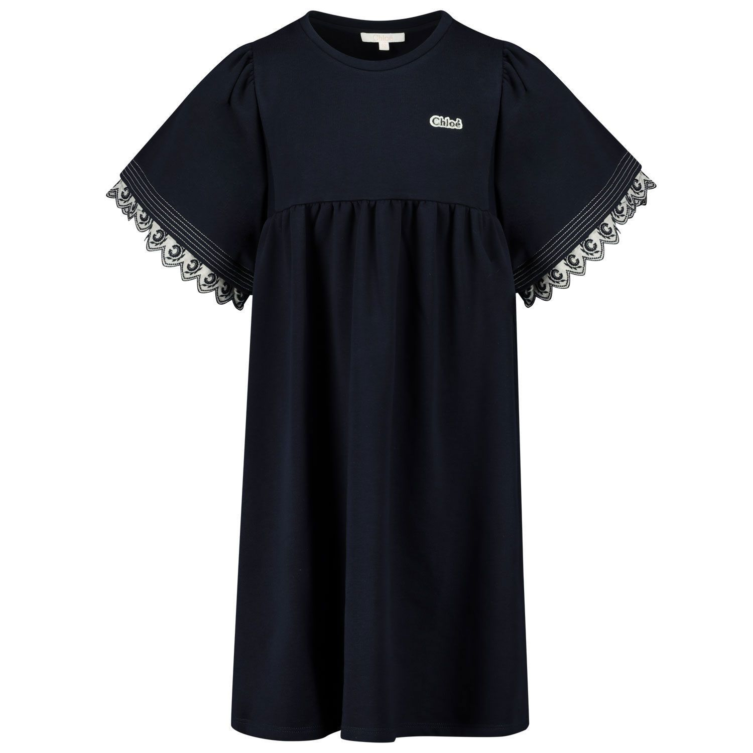 Picture of Chloé C12815 kids dress navy