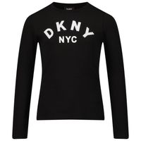 Picture of DKNY D35R57 kids t-shirt black