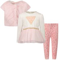 Picture of Guess A1BG07 B baby set light pink