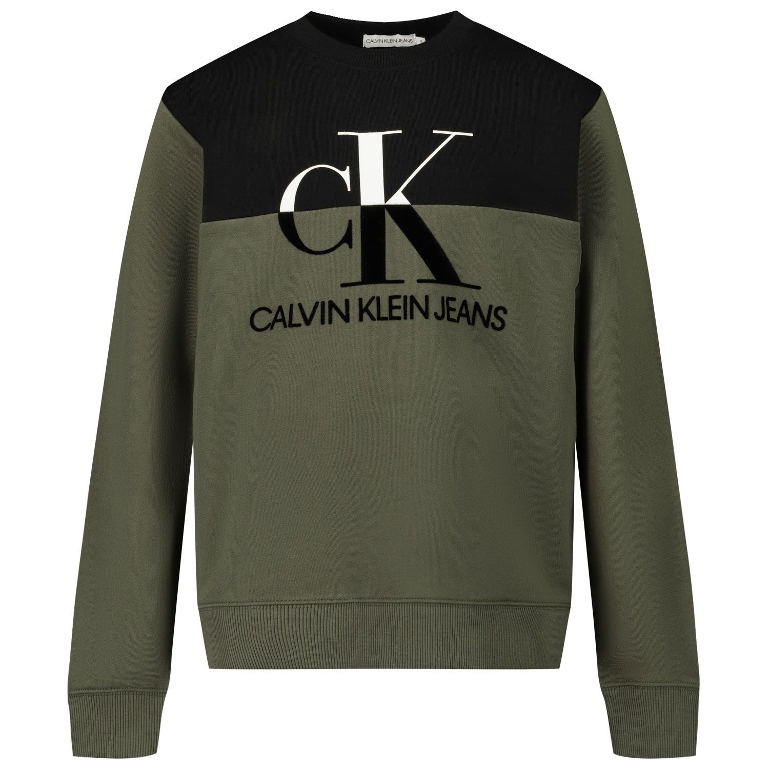 Picture of Calvin Klein IB0IB00566 kids sweater army