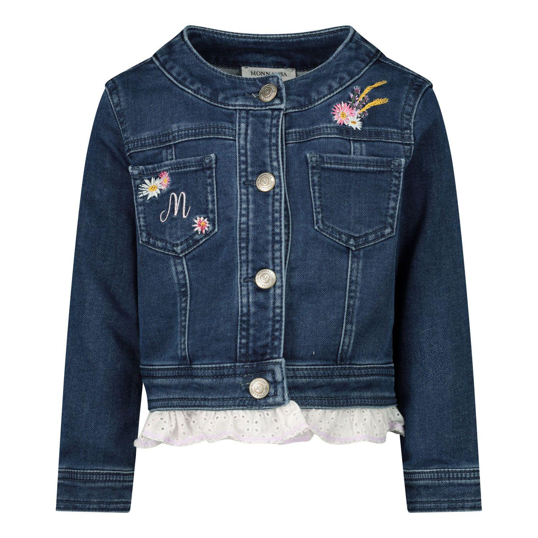 Afbeelding van MonnaLisa 397104RE babyjas jeans