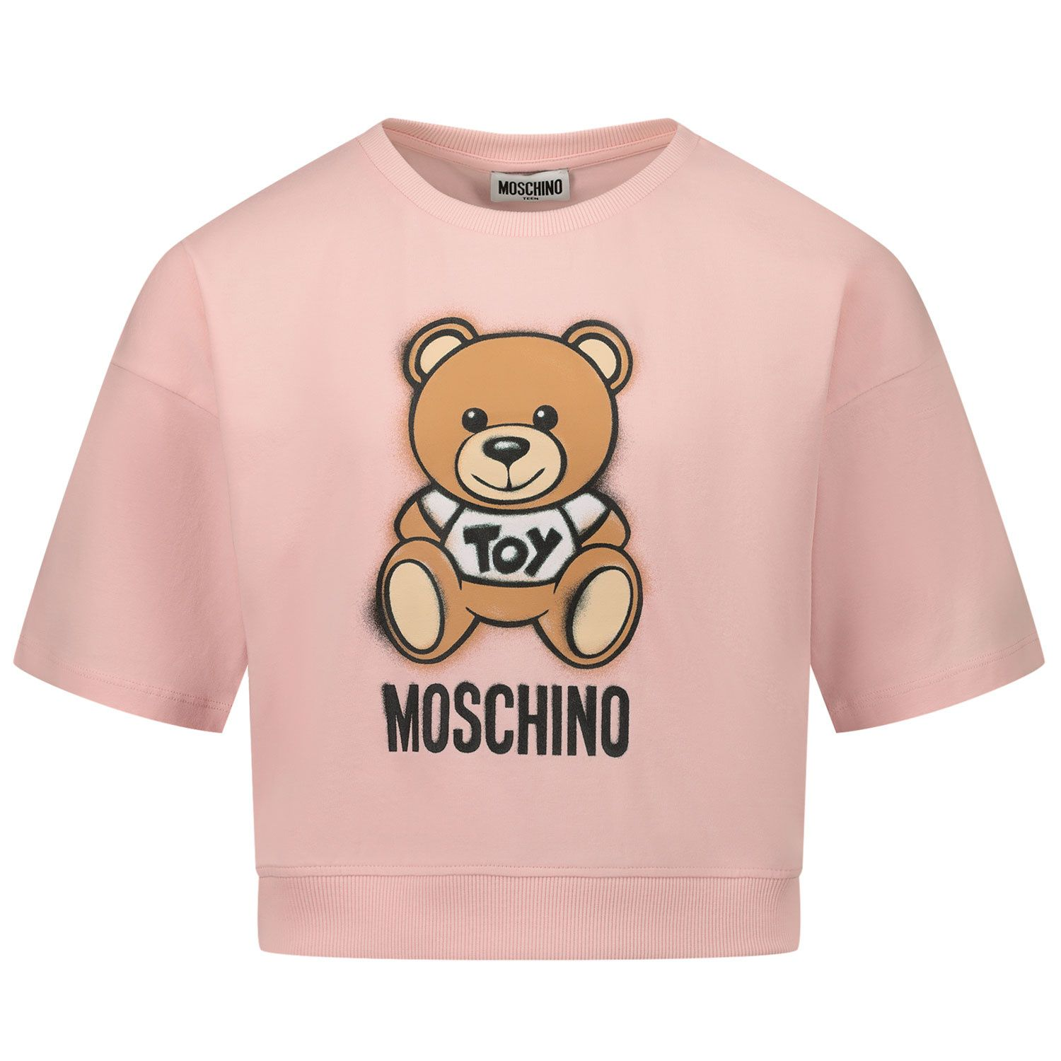 Picture of Moschino HDM03X kids t-shirt pink