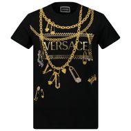 Afbeelding van Versace YC000214 kinder t-shirt zwart