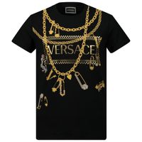 Picture of Versace YC000214 kids t-shirt black