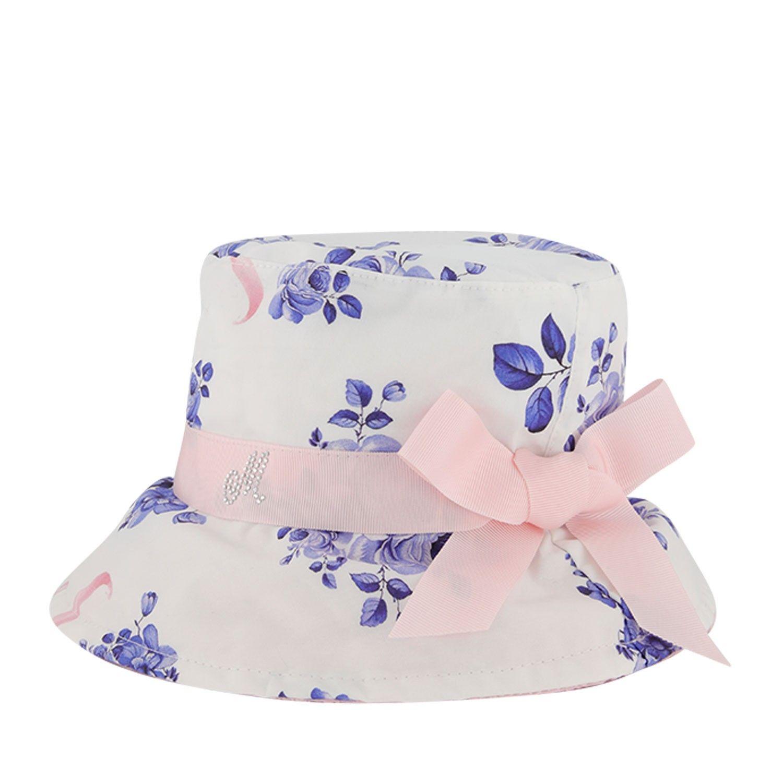 Afbeelding van MonnaLisa 395000 baby hoedje wit/blauw