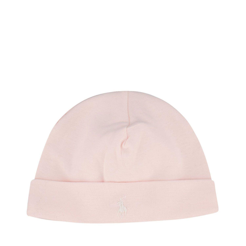 Picture of Ralph Lauren 310552454 baby hat light pink