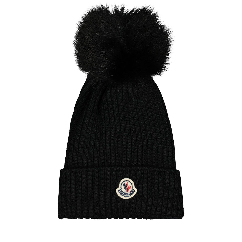 Picture of Moncler 3B71311 kids hat black