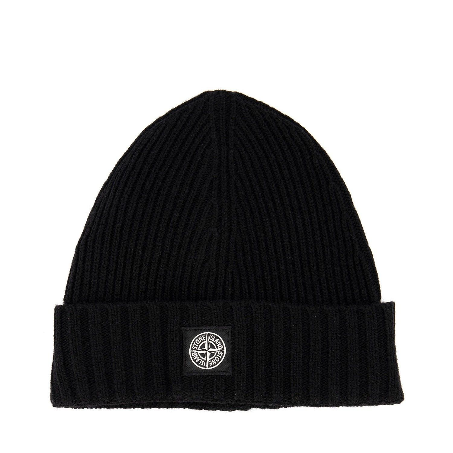 Picture of Stone Island MO7316N03A8 kids hat black