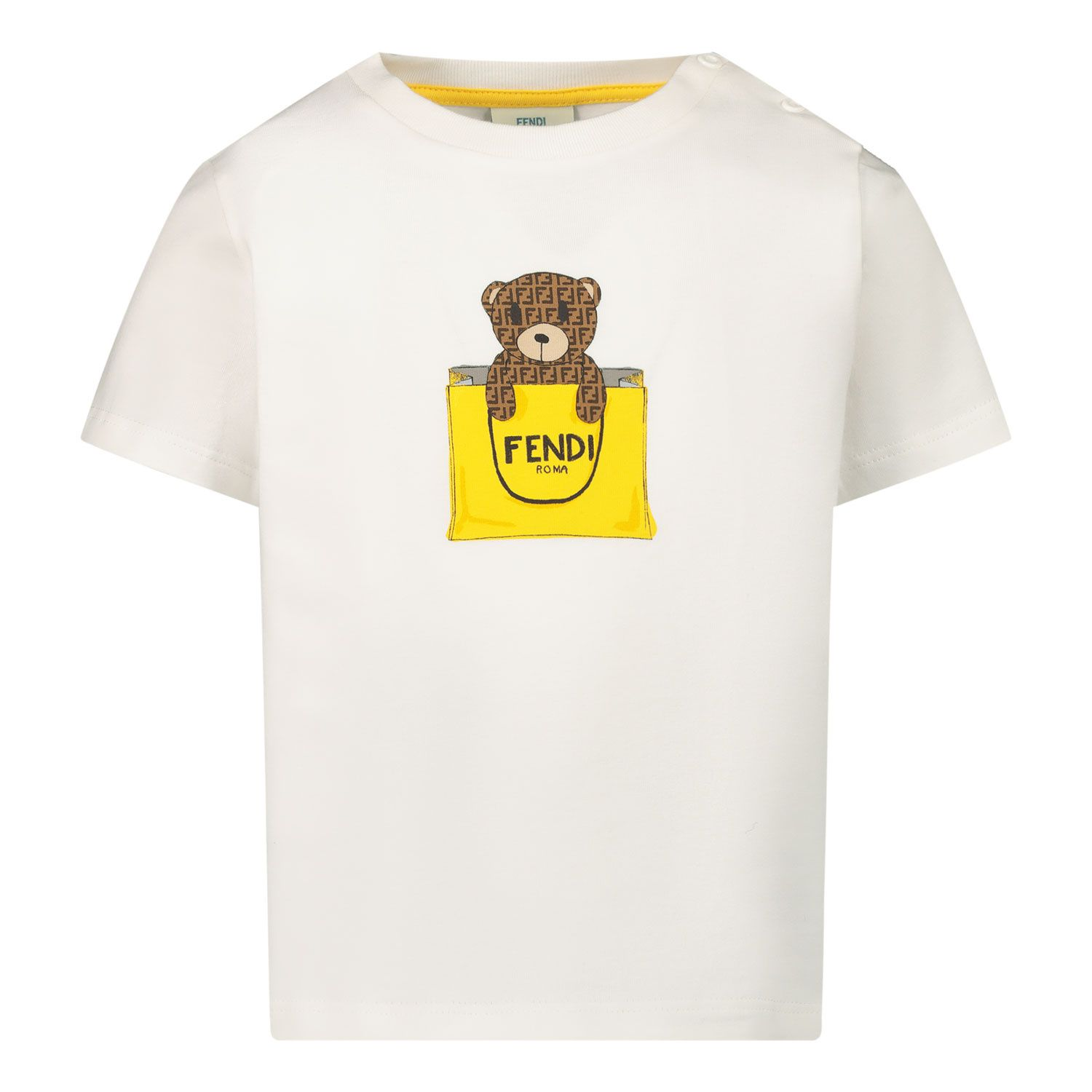 Picture of Fendi BUI016 ST8 baby shirt white