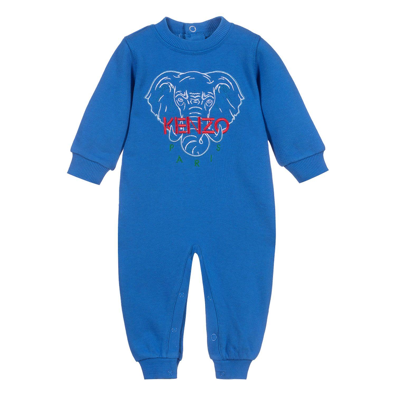 Kenzo Kr15547 jongens baby trui cobalt blauw bij Coccinelle