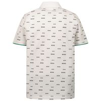 Picture of Boss J25N25 kids polo shirt white