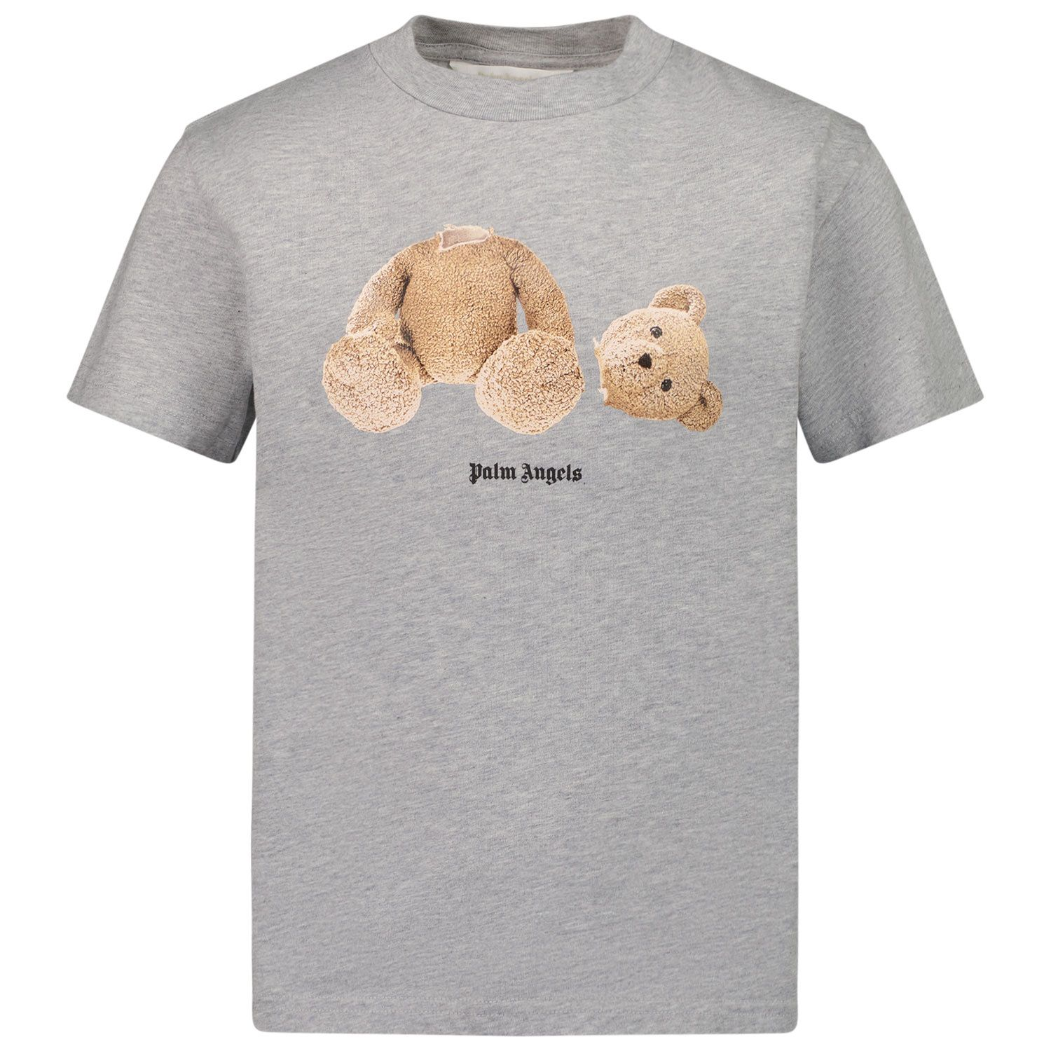 Picture of Palm Angels PBAA001F21JER001 kids t-shirt grey