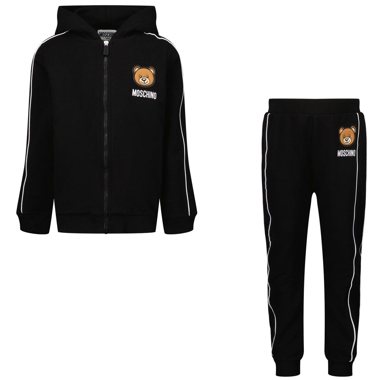 Picture of Moschino MUK03B baby sweatsuit black