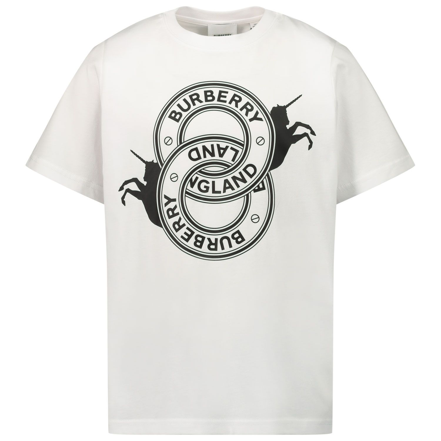 Picture of Burberry 8032830 kids t-shirt white