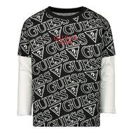 Afbeelding van Guess N0BI25/I3Z00 baby t-shirt zwart